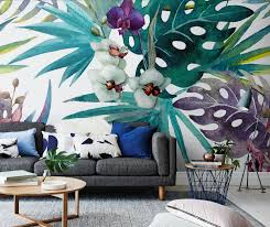 incredible wallpapers and wall murals botanical wall mural from pixers