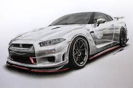 nissan skyline drawing nissan gtr edition r34 concept drawing youtube