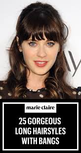 framed face hairstyles with bangs 35 long hairstyles with bangs best celebrity long hair with