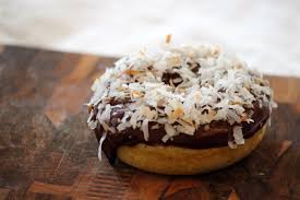 coconut covered brown butter donuts