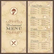 fancy dinner menu template 28 a receipt of payment