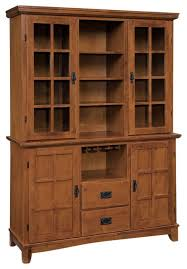 Oak Hutch And Buffet by Arts And Crafts Buffet And Hutch Cottage Oak Finish Transitional