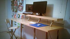 Diy Standing Desk by Charming Ikea Adjustable Standing Desk Simple Adjustable Standing