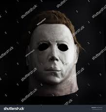 halloween the movie background studio portrait michael myers mask john stock photo 496126666