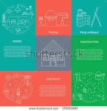 vector set templates house repair elements stock vector 378265090