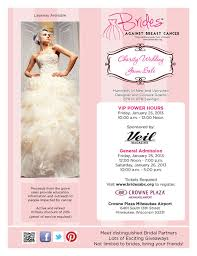 milwaukee wedding dress shops brides against breast cancer flyer