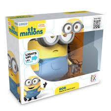 minions 3d wall light bob led light yellow blue menkind