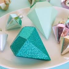 diamonds papercraft ornaments diy papercraft