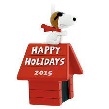brown christmas snoopy dog house hallmark peanuts snoopy flying ace on doghouse happy