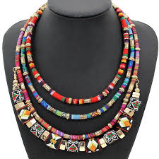 statement necklace store images Indian style hand made statement chokers jewelry multi layer cloth jpg