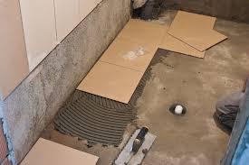 good preparing bathroom floor for tile 12 best for home design