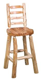 Ladder Back Bar Stool Ladder Back Bar Stool W Scooped Seat Rustic Furniture Mall By