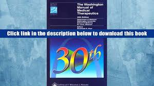 download the washington manual of medical therapeutics for kindle