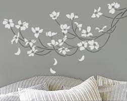 Floral Wall Stencils For Bedrooms Stencil Dogwood Branch Large Reusable Wall Stencil Diy Home