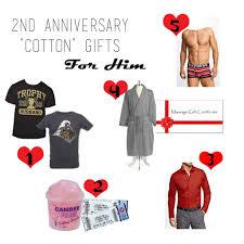 idea 2nd wedding anniversary gift ideas for him best wedding