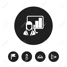 icon bureau set of 5 editable bureau icons includes symbols such as