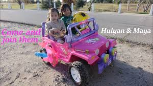frozen power wheels sleigh fisher price u0027s ride on power wheels a pink jeep wrangler barbie