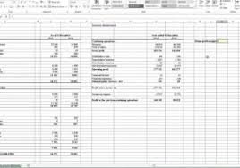 profit u0026 loss statement example and profit and loss excel
