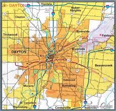 dayton map dayton ohio map travel map travelquaz com