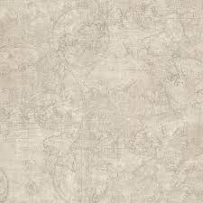 World Map Wallpaper Beacon House Facade Beige Vintage Blueprint Wallpaper Sample 2604