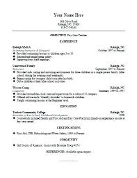 daycare resume exles daycare resume sle free printable daycare resume