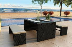 Best Outdoor Wicker Patio Furniture Harmonia Living Skyline 3 Wicker Dining Set Modern Wicker