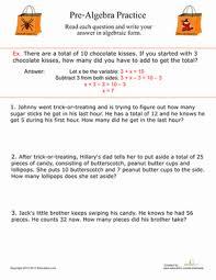 pre algebra practice worksheet education com