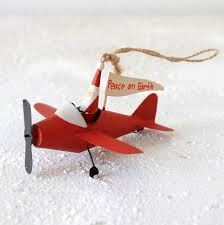santa airplane airplanes airplanes ornament and