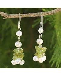 thailand earrings check out these hot deals on cultured pearl and peridot beaded