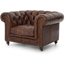 ace rustic lodge tufted brown leather casters armchair 2 875