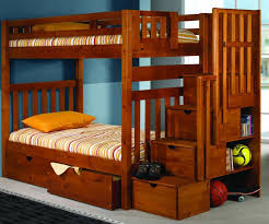 Donco Bunk Bed Mission Honey Stair Stepper Bunk Bed Bedroom Furniture Beds