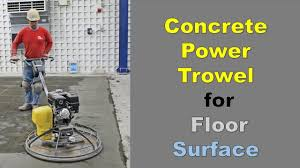concrete power trowel for floor surface i how to finish concrete i
