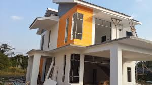 rumah banglow modern design khazanah hijau homestay kampar
