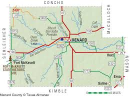 Map Of The State Of Texas by Menard County The Handbook Of Texas Online Texas State
