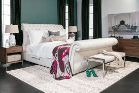 Tufted Sleigh Bed Kensington Ii California King Upholstered Sleigh Bed Living Spaces