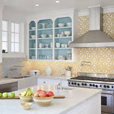 kitchen backsplash ideas with white cabinets houzz 75 beautiful kitchen with white cabinets and yellow