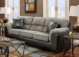Leather Sofa With Pillows by Sofa Inspiring Black And Grey Sofa Set Leather Ottoman U201a Futon