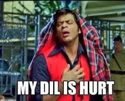 Hurt Meme - my dil is hurt az meme funny memes funny pictures