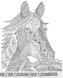 super hard abstract coloring pages for adults animals zentangle horse coloring page for adults plus bonus easy horse