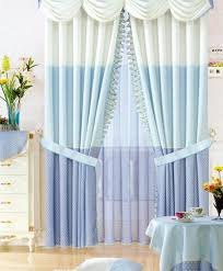 Blue And Yellow Curtains Prints Light Blue Hit Color Splice Living Room Curtains Buy White Print