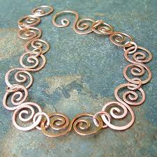 copper jewelry bracelet images Copper bracelet hammered swirls copper jewelry k davis studios jpg