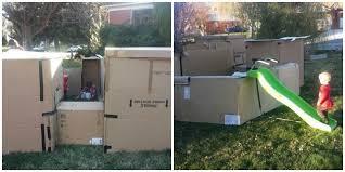 Build A Backyard Fort Dad Receives Citation Over Kids U0027 Box Fort Ogden Utah Cardboard Fort