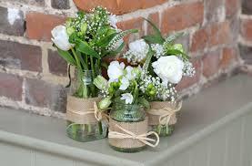 wedding flowers jam jars lyndsey challis photography