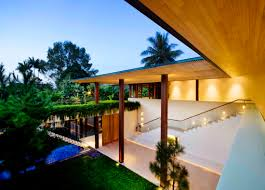 u shaped house with courtyard contemporary courtyard house in singapore idesignarch interior