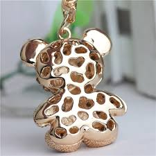golden giraffe ring holder images Crystal rhinestone alloy keychain for women handbag golden teddy jpg