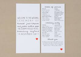 program paper wedding stationery inspiration hearts
