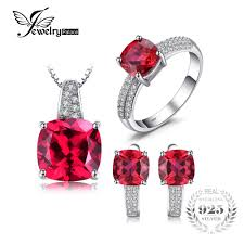 earring necklace ruby images Jewelrypalace created ruby ring necklace clip earring jewelry set jpg