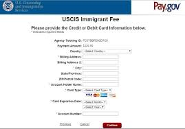Authorization Letter For Proof Of Billing For Credit Card Uscis Immigrant Fee Payment Guide Uscis