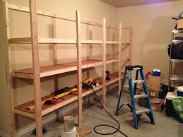 Wood For Shelves Making by How To Build Sturdy Garage Shelves Home Improvement Stack