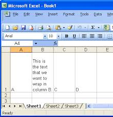 Microsoft Spreadsheet Office Space Wrapping Text In An Excel Spreadsheet